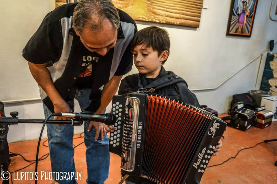 Texas Public Radio brands student, Joaquin Linn, as the Conjunto Kid.